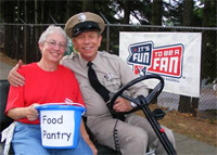 Food Pantry Patty Collecting Donations